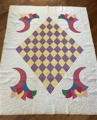 Quilt with Cornucopia Design