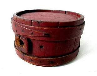 18TH C PAINTED CANTEEN