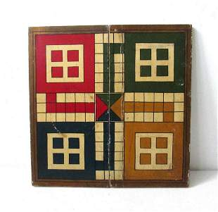 COLORFUL PARCHEESI GAMEBOARD