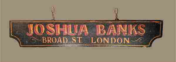 Painted Early 19 Century Wooden Sign