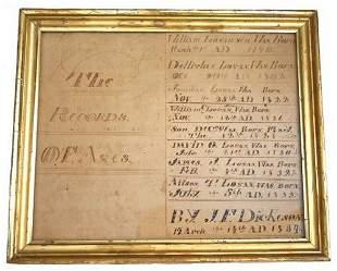 Ephemra Indiana Family Records