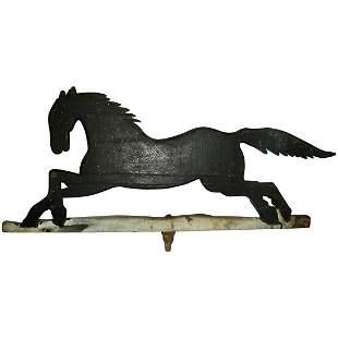 Wooden Running Horse Weathervane Fragment