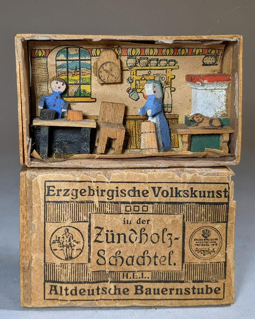 Erzgebirge Folk Art Miniature 19th c.
