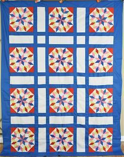 Graphic 30's Carpenter's Wheel Quilt Top