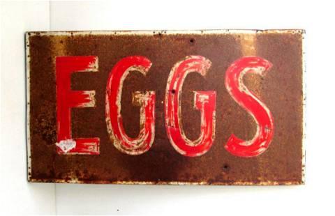 """EGGS"" TRADE SIGN"