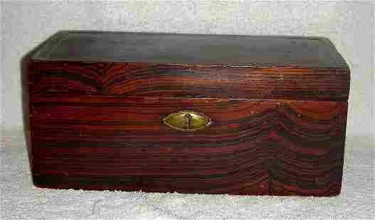 Small 19th C Comb Grained Document Box
