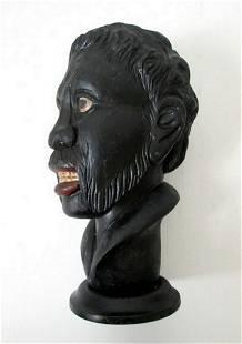 CARVED BLACK MAN BUST