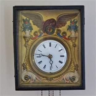 Antique Wall Clock w/ American Eagle