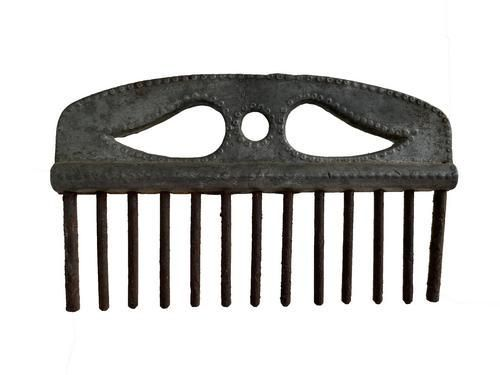 Pewter Flax Comb