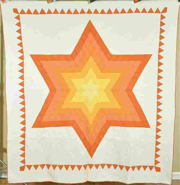 30's Lone Star Quilt, Great Colors
