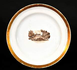 Chinese Export American Market Porcelain Plate