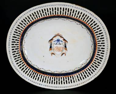 Chinese Export American-market Porcelain Dish