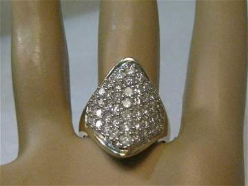 Vintage 10kt Diamond Ring, 47 Micro Diamonds, .47 ctw,