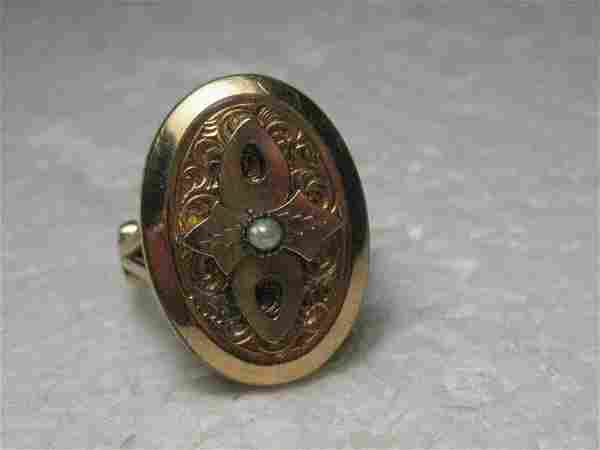 Vintage Victorian/Edwa; rdian 10-14Kt Gold Ring, Seed