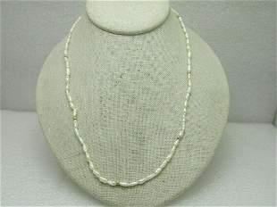 Vintage 14kt Gold Freshwater Pearl Necklace, Gold