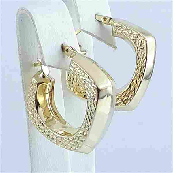K Yellow Gold - Earring