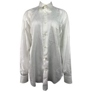 Brioni Neiman Marcus White Cotton Button Down Shirt