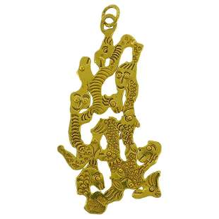 Jean Mahie 22 Karat Yellow Gold Pendant
