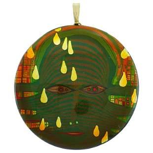 Hundertwasser Wood Lacquer Pendant