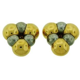 1980s Marina B Gold Earrings