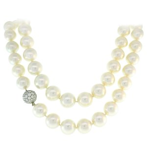 Tiffany & Co. Pearl Strand Necklace with Diamond