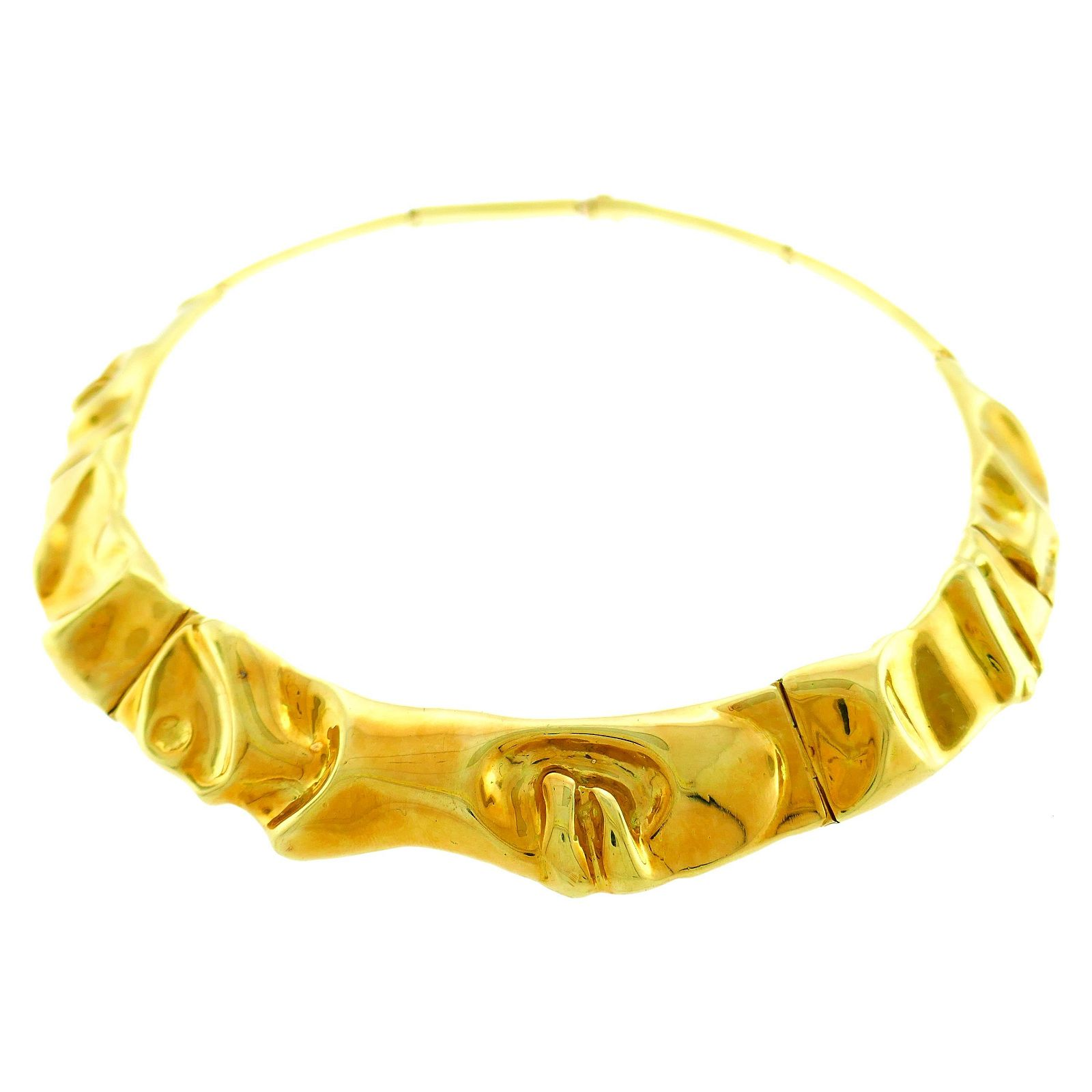 Vintage Yellow Gold Collar Necklace