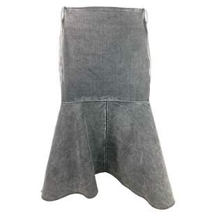 Balenciaga Denim Flare Skirt, Size 42