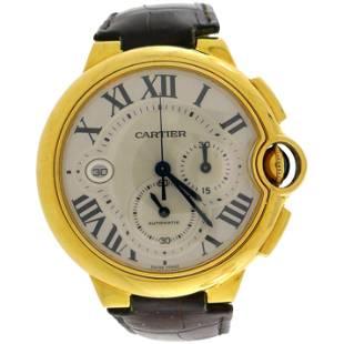 Cartier Yellow Gold Ballon Bleu Automatic Wristwatch