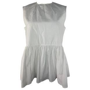 MARNI White Cotton Top Blouse, Size 40