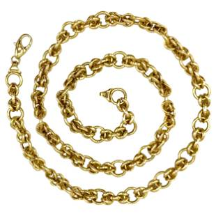 Vintage Italian Chunky Link Chain Necklace
