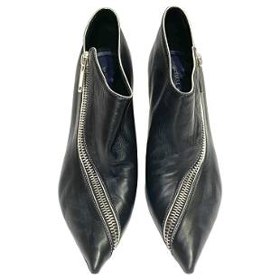 Celine Low Boot 90 Zip Nappa Leather Black Zipper Size