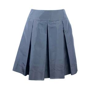 PRADA Black Flare Midi Skirt Size 40