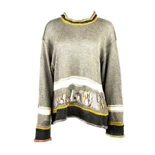 Matsuda Nicole Tokyo Japan Grey Knit Pullover Sweater