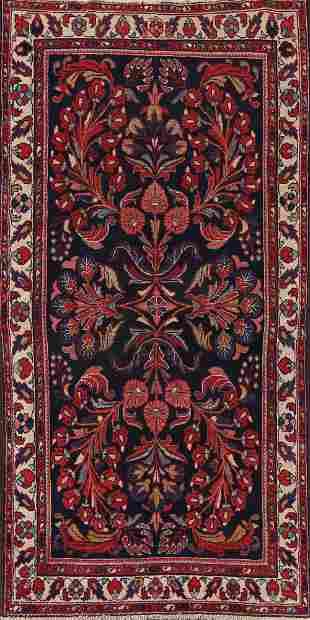 Antique 100% Vegetable Dye Lilian Persian Area Rug 4x8