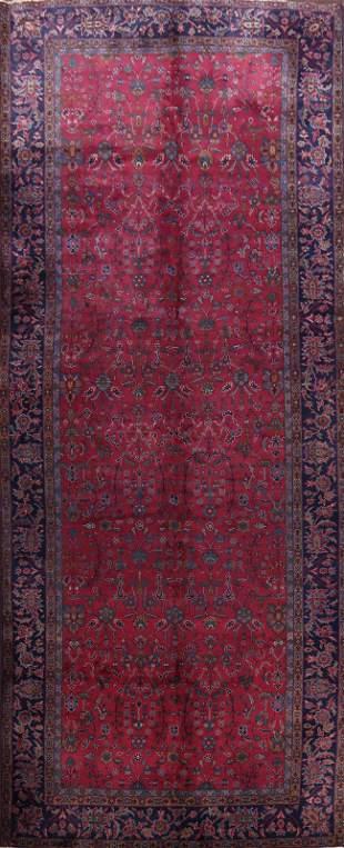 100% Vegetable Dye Antique Mashad Persian Area Rug 8x18