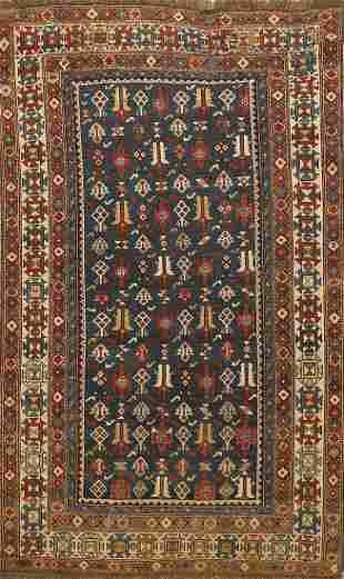 Pre-1900 Antique Vegetable Dye Caucasian Persian Area