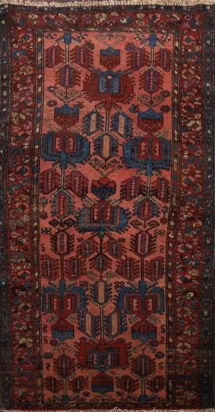 100% Vegetable Dye Antique Hamedan Persian Area Rug 3x6