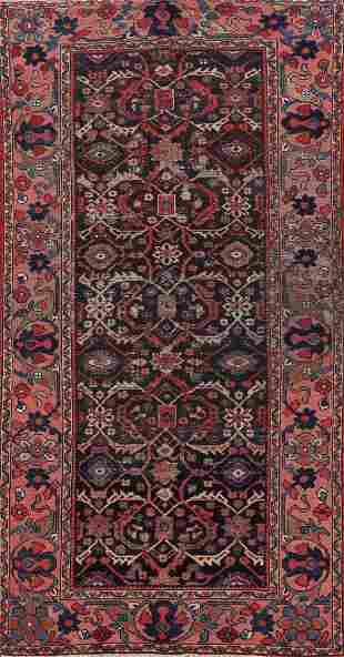 Pre-1900 Antique Vegetable Dye Sarouk Persian Runner