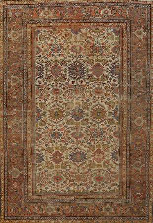 Pre-1900 Antique Vegetable Dye Sultanabad Persian Area