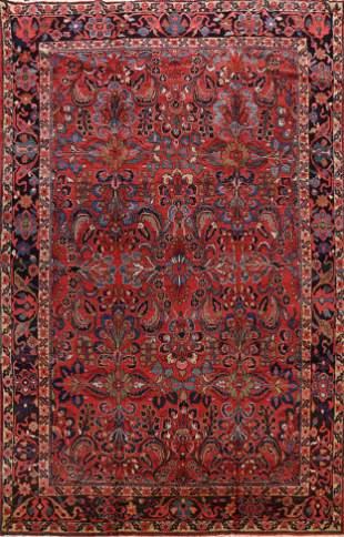 Antique Vegetable Dye Sarouk Persian Area Rug 9x12