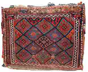 Handmade antique collectible Persian Kurdish bag 1.8' x