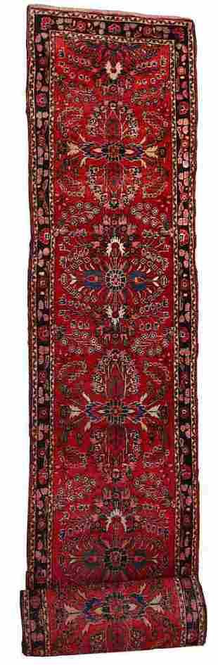 Handmade antique Persian Lilihan runner 2.7' x 23.3' (
