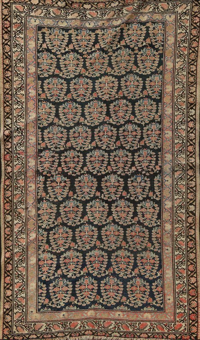 Pre-1900 Antique Vegetable Dye Senneh Bidjar Persian