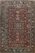 Pre-1900 Antique Vegetable Dye Sarouk Persian Area Rug