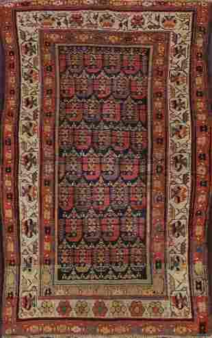 Pre-1900 Antique Vegetable Dye Malayer Persian Area Rug