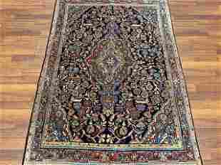 Antique persian sarouk rug-4772