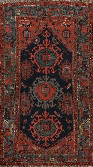 Vegetable Dye Antique Bidjar Halvaei Persian Area Rug