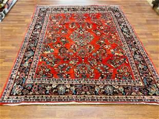 Antique Persian square Sarouk rug-423