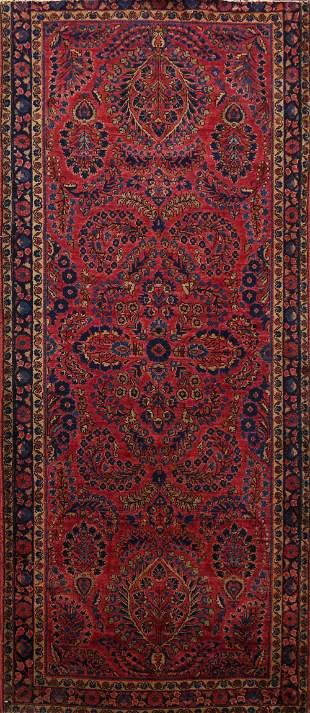 100% Vegetable Dye Antique Sarouk Persian Area Rug 3x6