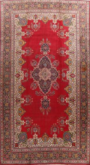Antique Floral Tabriz Signed Persian Area Rug 11x18